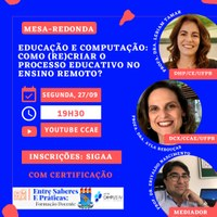 Mesa-redonda discute ensino remoto e novas tecnologias na educação