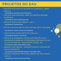 Projetos do DAU - PROBEX 2020