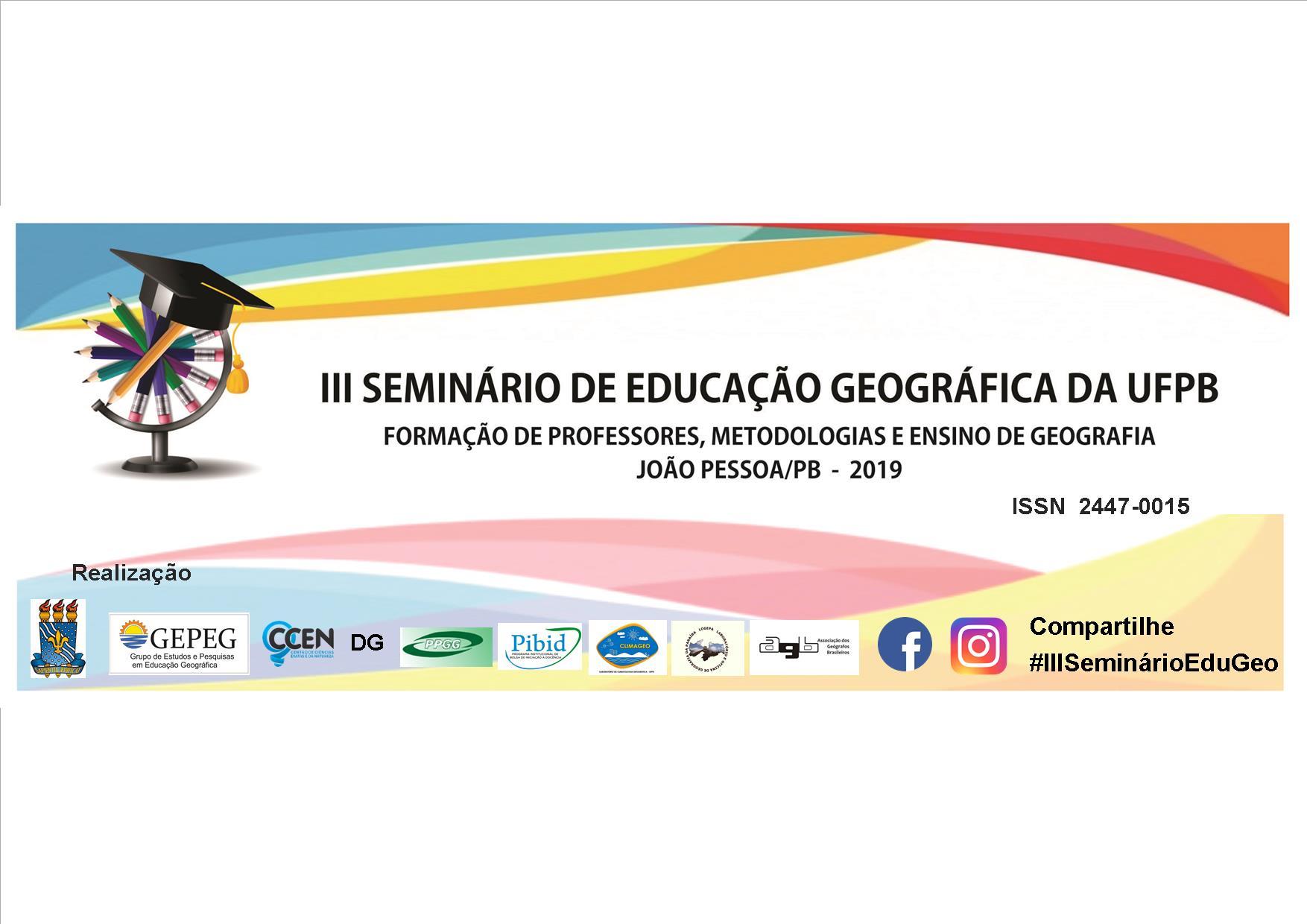 III Seminário de Educação Geográfica da UFPB