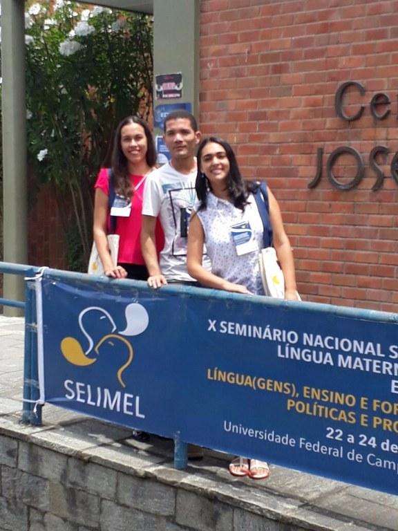 Participação no X Seminário Nacional Sobre Ensino de Língua Materna, Estrangeira e de Literaturas (SELIMEL)