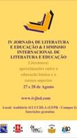 IV Jornada de Literatura e Educação & I Simpósio Internacional de Literatura e Educação
