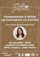 Café Geográfico retoma suas ações com atividades em João Pessoa e Bananeiras