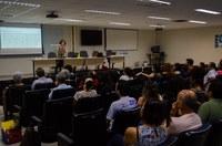 O evento contou com a defesa do memorial acadêmico da Prof. Fátima Rodrigues, mesa redonda e lançamento de livro