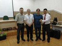 Da esquerda para direita: Cleverton, Petrônio, Vinícius e Henry Suzuki.