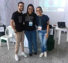 Integrantes da Equipe de Inovação Tecnológica em Saúde (ELITS-UFPB) na Expotec 2019.