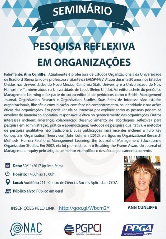 Seminário: Pesquisa reflexiva em organizações