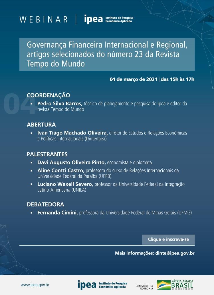 Webinar IPEA