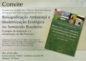 Convite - Congresso de intregação e revitalização do São Francisco