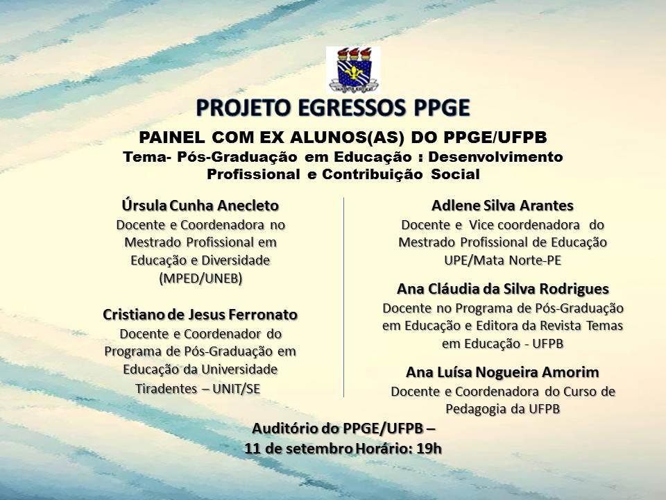 Convite  Projeto Egressos PPGE