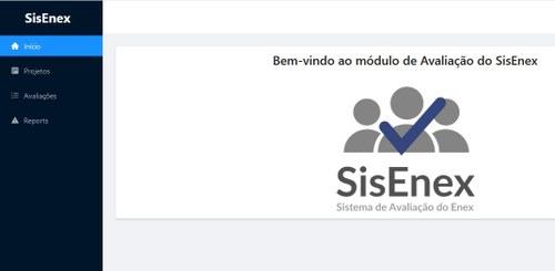 Tela do SisEnex
