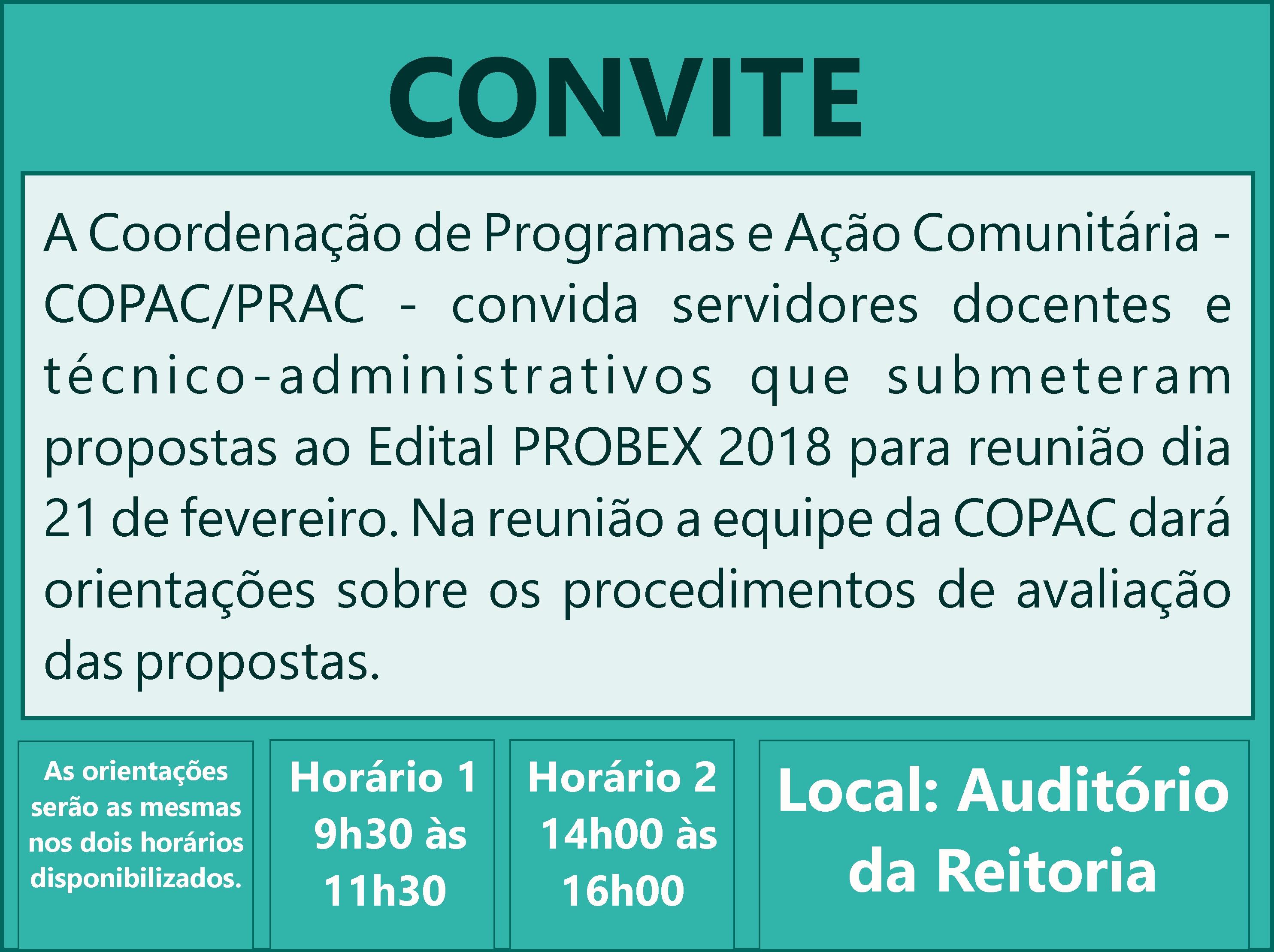 Reunião PROBEX 2018